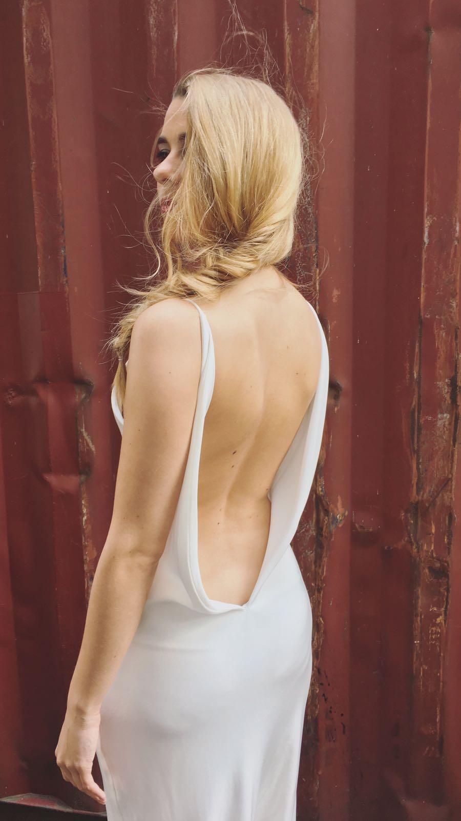 Bruidskapsels - visgraatvlecht rug