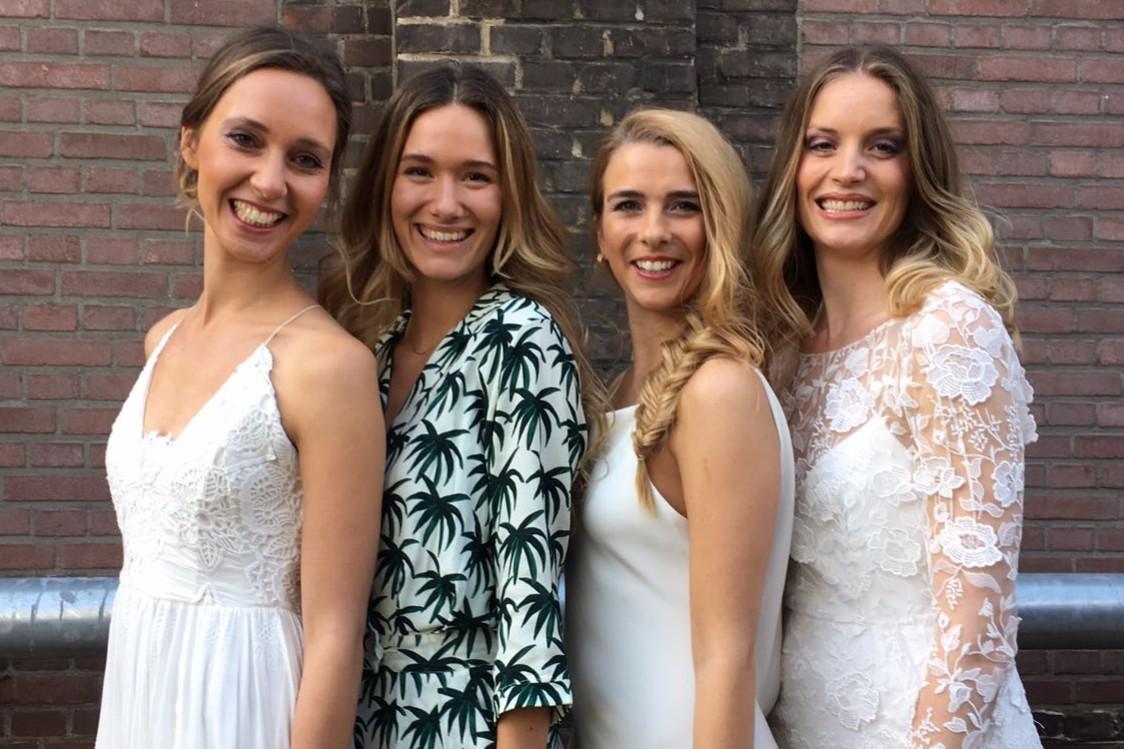 Bruidskapsels - Annika en modellen