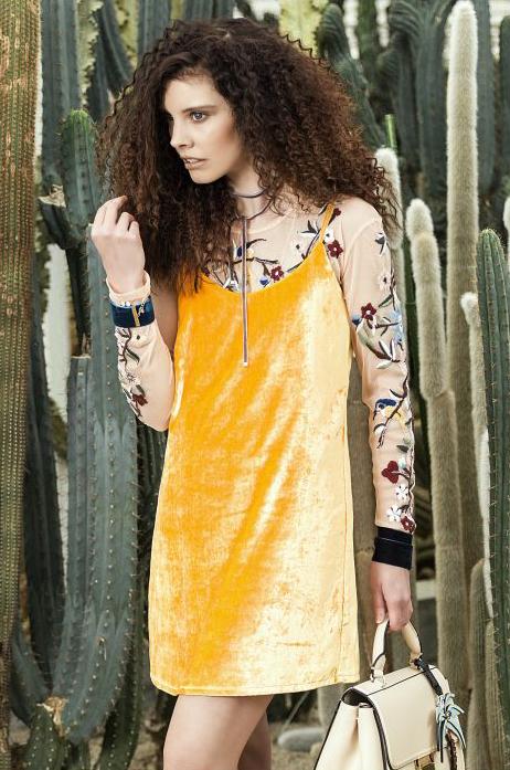 Fashion shoot - Velvet geel